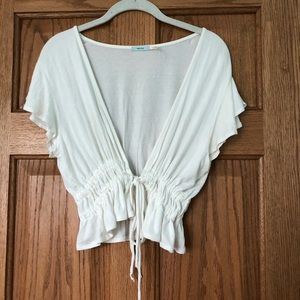 Urban outfitters White tie in middle top